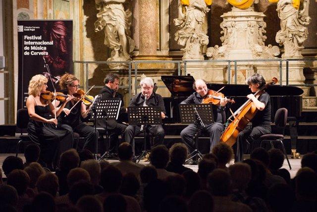 Concert del Festival Internacional de Música de Cervera, dins de la Càtedra Emili Pujol.