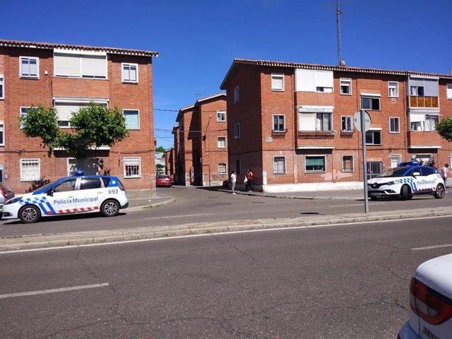 Foto de archivo de la Policía Municipal en el barrio vallisoletano de Las Viudas.