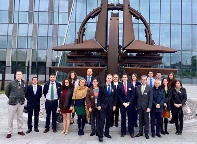 Delegación de la UCAM en la sede del Cuartel General Supremo de la OTAN en Europa