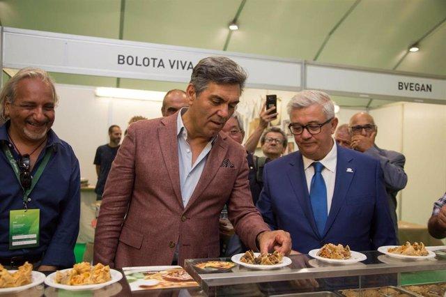 El secretario de Estado de Bosques y Desarrollo Rural del Gobierno de Portugal, Miguel Freitas, en la Feria Rayana
