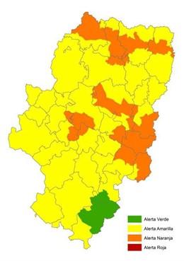 Alerta por riesgo de incencios en Aragón el 20 de julio.