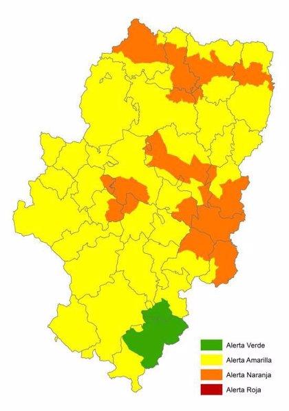 Alerta naranja por riesgo de incendios forestales en diversas zonas de Aragón