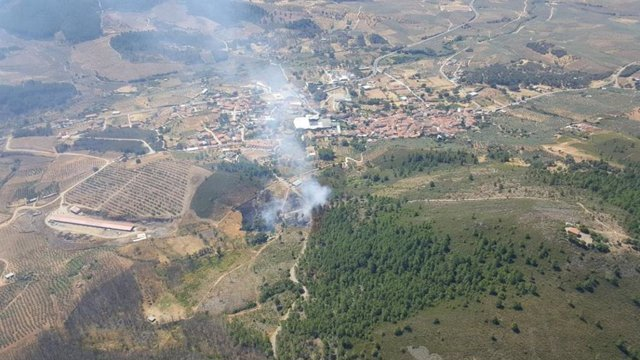 Incendio junto a Torrecilla de los Ángeles
