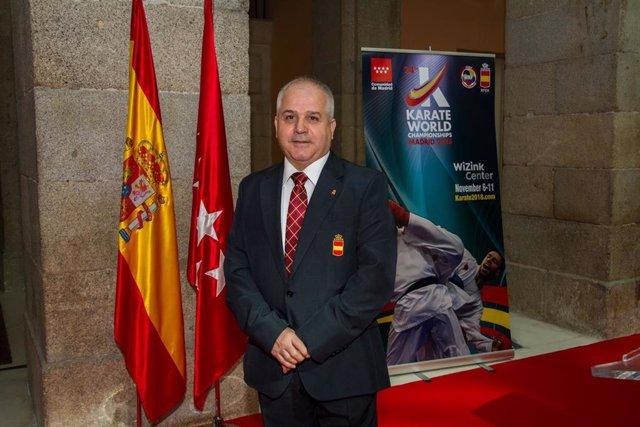 El presidente de la Real Federación Española de Kárate (RFEK), Antonio Moreno.