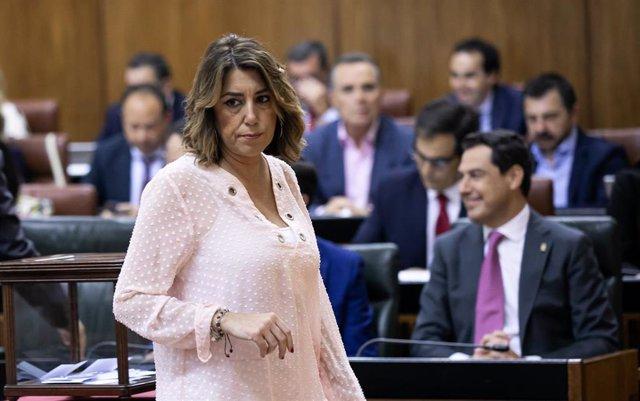 La secretaria general del PSOE-A, Susana Díaz en una imagen de archivo