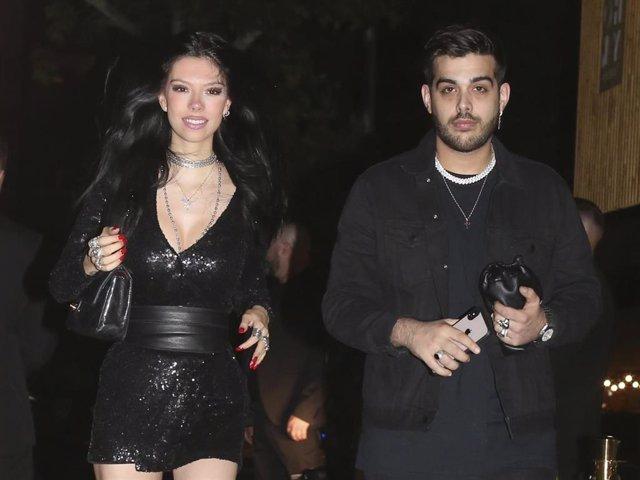 Alejandra Rubio en compañía de su novio, Álvaro Lobo en la fiesta de 'Supervivientes 2019'