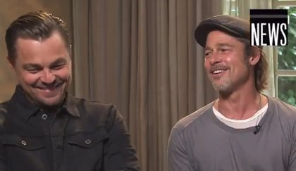 Margot Robbie y Brad Pitt se ríen de Leonardo DiCaprio y su muerte en Titanic (VÍDEO)