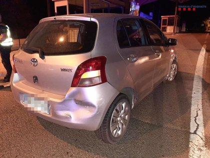 Detenido un conductor ebrio tras causar dos accidentes en La Jonquera (Girona)