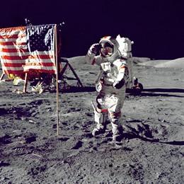 Imagen de la llegada del hombre a la Luna