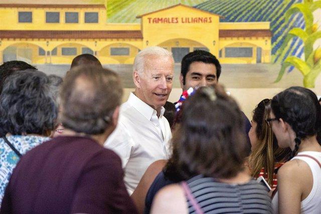 Candidato a la Casa Blanca y ex vicepresidente de EEUU Joe Biden
