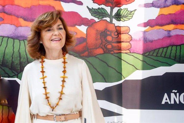 La secretaria de Igualdad de la Ejecutiva Federal y vicepresidenta del Gobierno en funciones, Carmen Calvo.