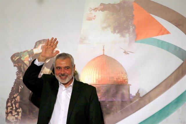 Ismail Haniye, líder del brazo político de Hamás