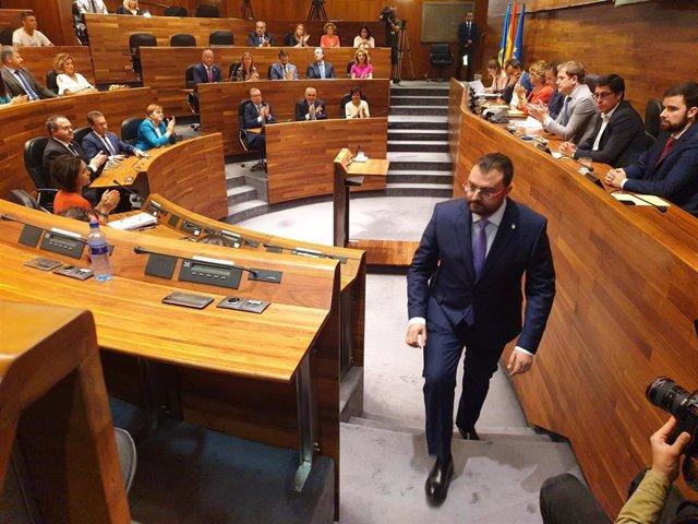 Adrián Barbón elegido presidente del Principado.