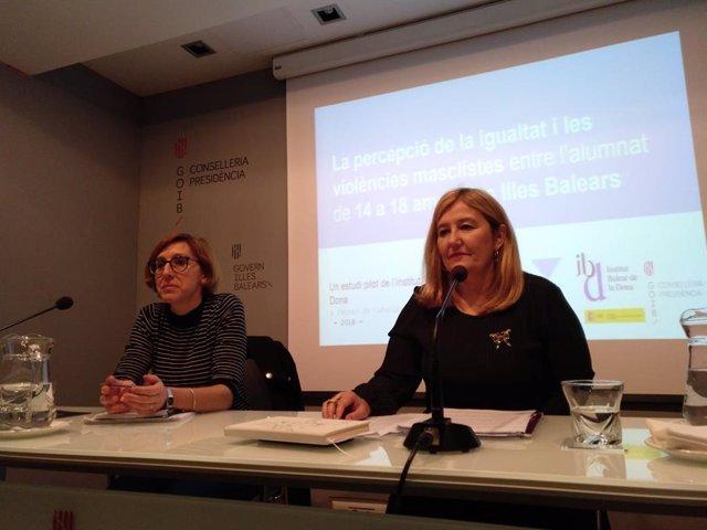 La directora insular de Igualdad del Consell de Mallorca, Rosa Cursach, en una imagen de archivo durante la presentación de un estudio sobre violencias machistas.
