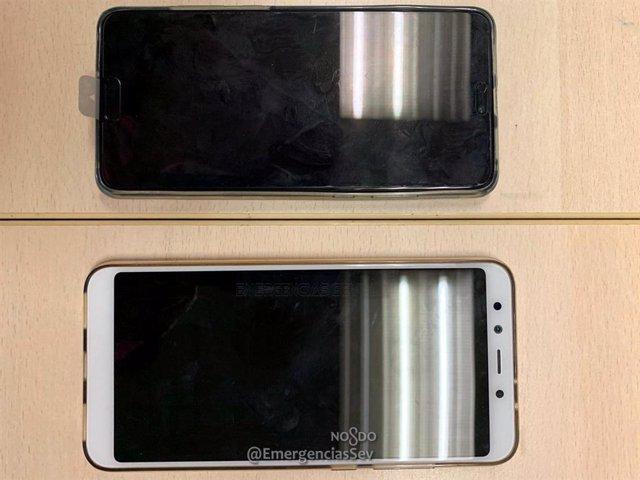 Los dos teléfonos sustraídos valorados en 700 euros