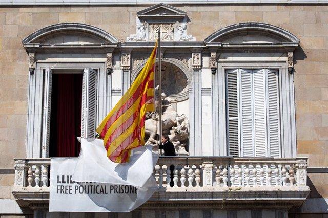 Imatge d'arxiu de la façana de la Generalitat