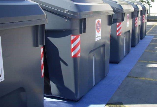 Imagen de contenedores de residuos en la localidad de Getafe