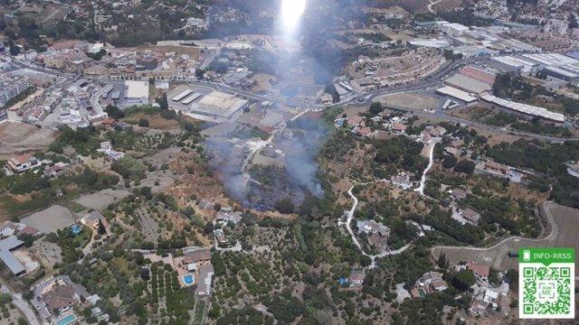 Incendio en las afueras de Coín