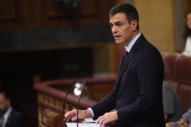 Líder del PSOE en la tribuna