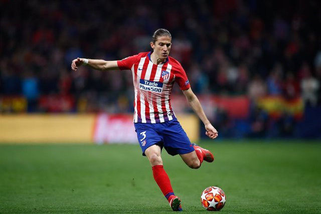 Filipe Luis of Atletico de Madrid during the UEFA Champions League Round of 16 first leg football match played between Atletico de Madrid and Juventus FC at Wanda Metropolitano Stadium, Madrid, Spain. February 20th 2019.