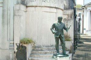 Roban una gran estatua de un cementerio en Argentina y nadie encuentra explicación