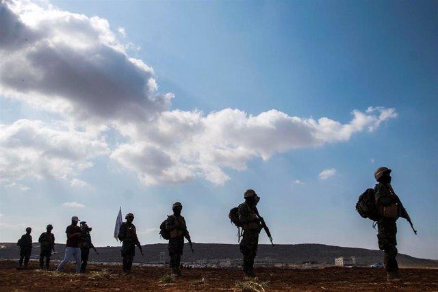 Milicias de Idlib, en Siria