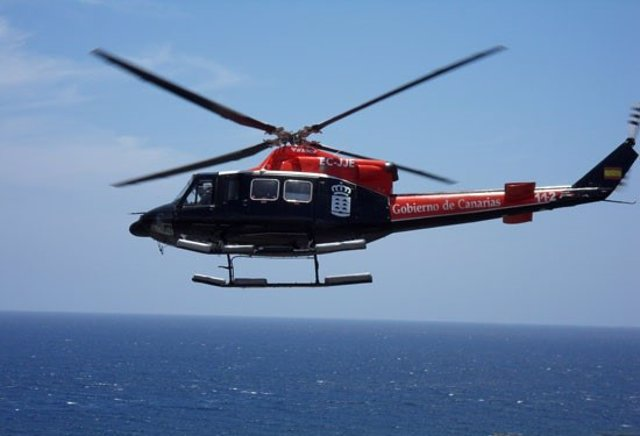Helicóptero del Grupo de Emergencias y Salvamento (GES) del Gobierno de Canarias