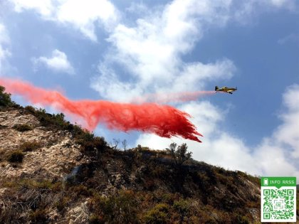 Controlados los incendios forestales de Ojén y Benalmádena, en Málaga