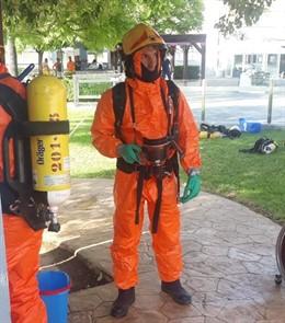 Los bomberos han medido la calidad del aire tras la explosión