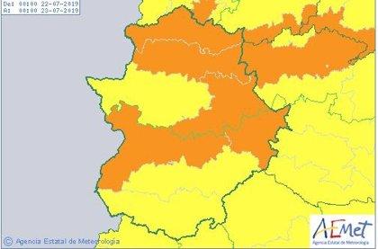 Extremadura continuará este lunes en riesgo por calor por temperaturas que superarán los 40 grados