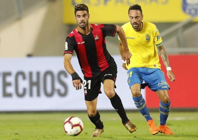 El Reus durante un partido ante Las Palmas de la temporada 2019-2020
