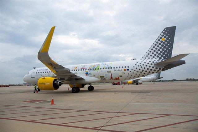 El avión airbus de Vueling A320neo, en una imagen de archivo.