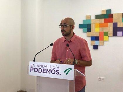"""Podemos pide a Sánchez situar a Andalucía en el centro del debate y aclarar si """"resarcirá la deuda"""" por la financiación"""