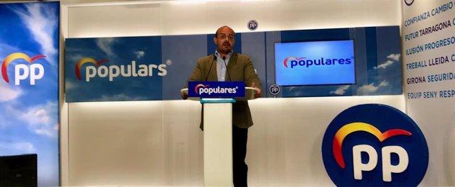 El presidente del PP en el Parlament, Alejandro Fernández