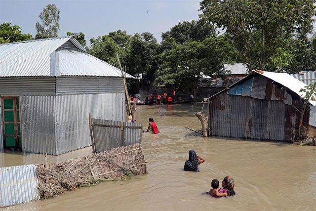 Inundaciones en Jamalpur (Bangladesh)