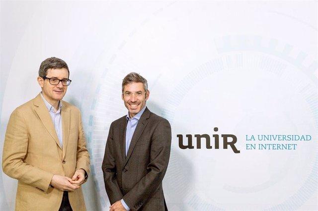 Firma de un convenio entre la Universidad Internacional de La Rioja y get brit!