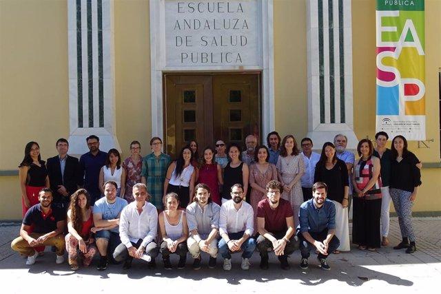 Foto en la Escuela Andaluza de Salud Pública