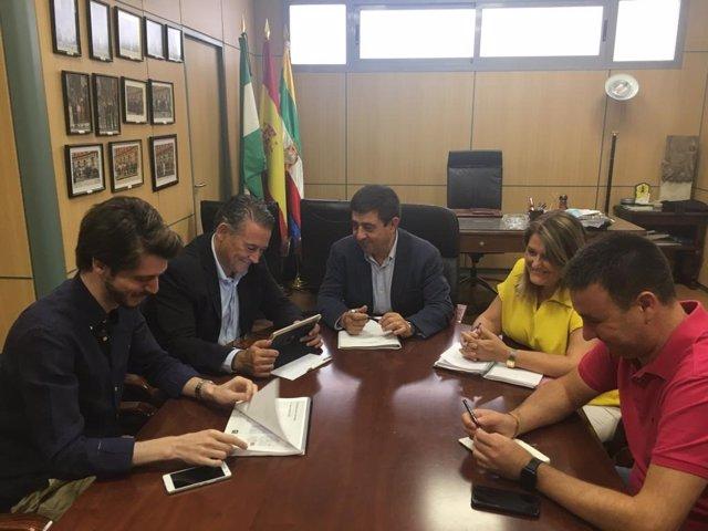 Visita institucional a Francisco Reyes a Linares