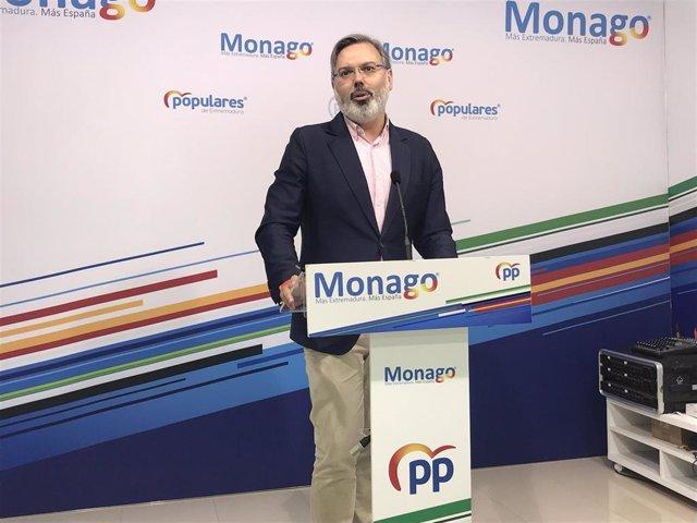 El portavoz del PP de Extremadura, Fernando Pizarro