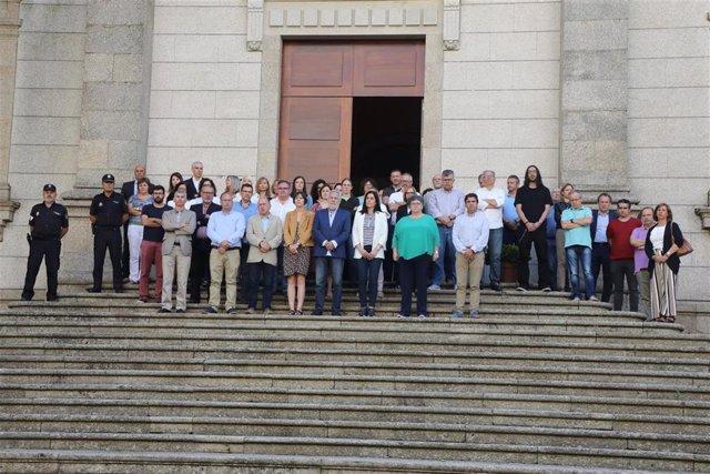 Concentración desarrollada en el Parlamento de Galicia