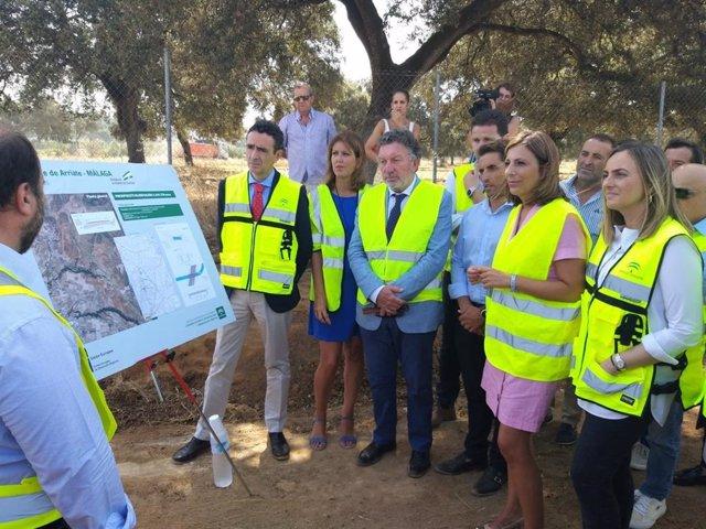 Carazo destaca que la Junta retoma las obras de la nueva variante este de Arriate (Málaga)