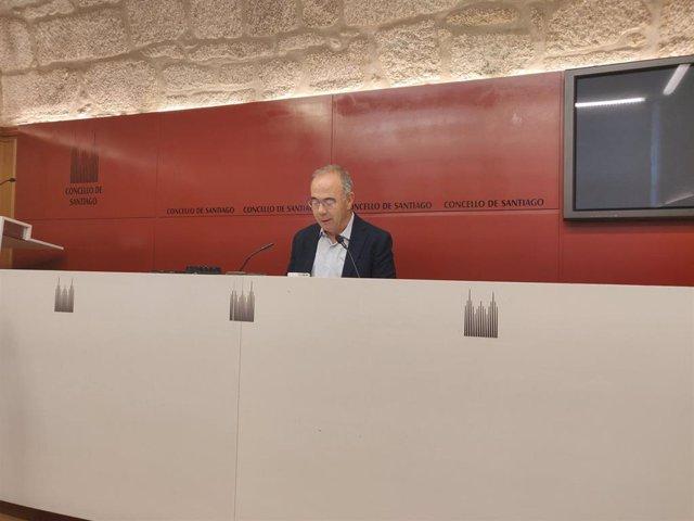 Xosé Sánchez Bugallo en rueda de prensa
