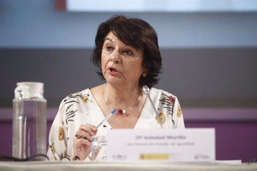 La secretaria de Estado de Igualdad, Soledad Murillo, interviene en la presentación de 'Hola, tú a mí no me conoces', diccionario ilustrado contra los estereotipos de género en la publicidad.