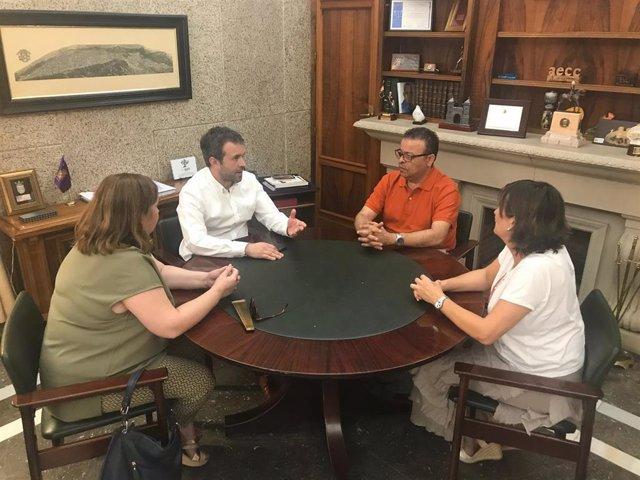 Reunión del alcalde de Jaén, Julio Millán, con CSIF