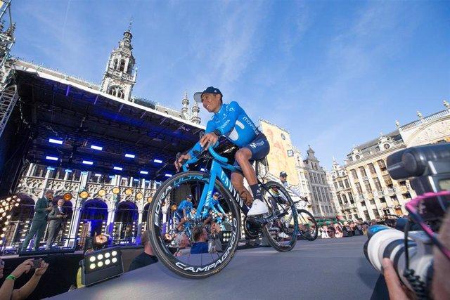 Nairo Quintana en la presentación del Tour de Francia 2019