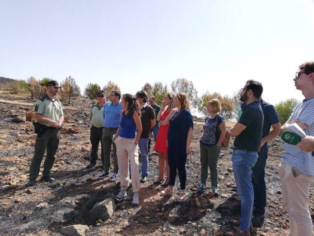Crespo en una de las zonas afectadas por el incendio forestal de Terque (Almería)