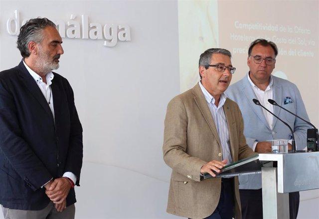 El presidente de la Diputación y de Turismo Costa del Sol, Francisco Salado