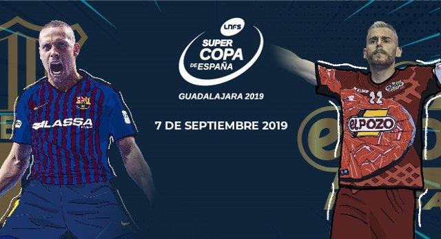Cartel de la Supercopa de España 2019 de fútbol sala que se disputará en Guadalajara