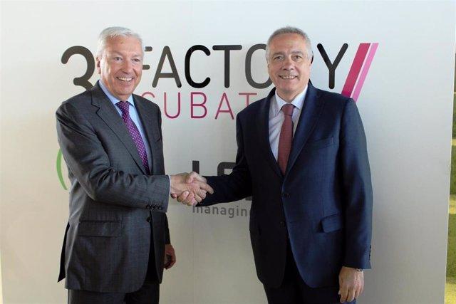 El delegado especial del Gobierno español en el CZFB, Pere Navarro, y el presidente de Cecot, Antoni Abad