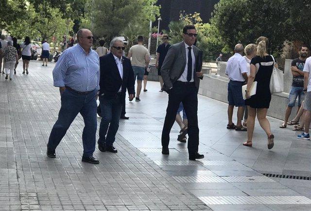El expresidente de la Diputación de Valencia, Alfonso Rus, a su llegada a la Ciudad de la Justicia de Valncia